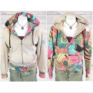 O'Neill Reversible Floral Thermal M Hoodie Jacket